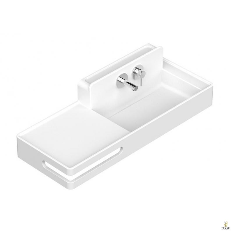 Раковина EUMAR Amelie 100R правая 990x380x120 CreaCore отверстия для смесителя, полотенца