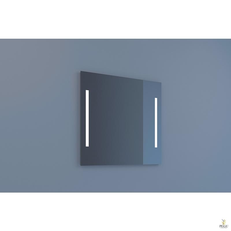 Eumar зеркало Due 80x80 с LED подсветкой