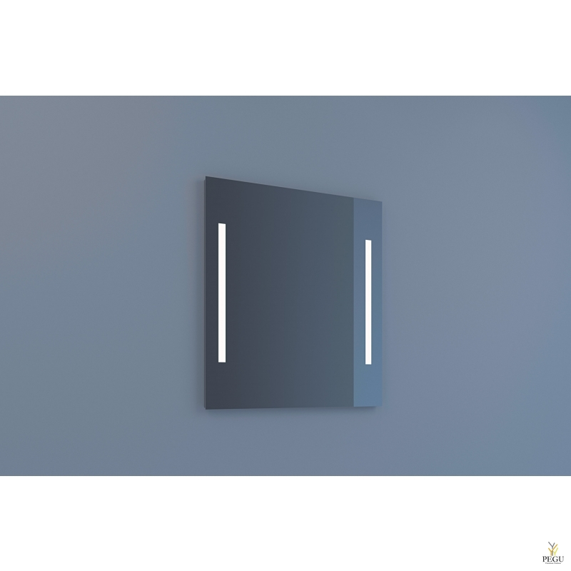 Eumar зеркало Due 70x80 с LED подсветкой