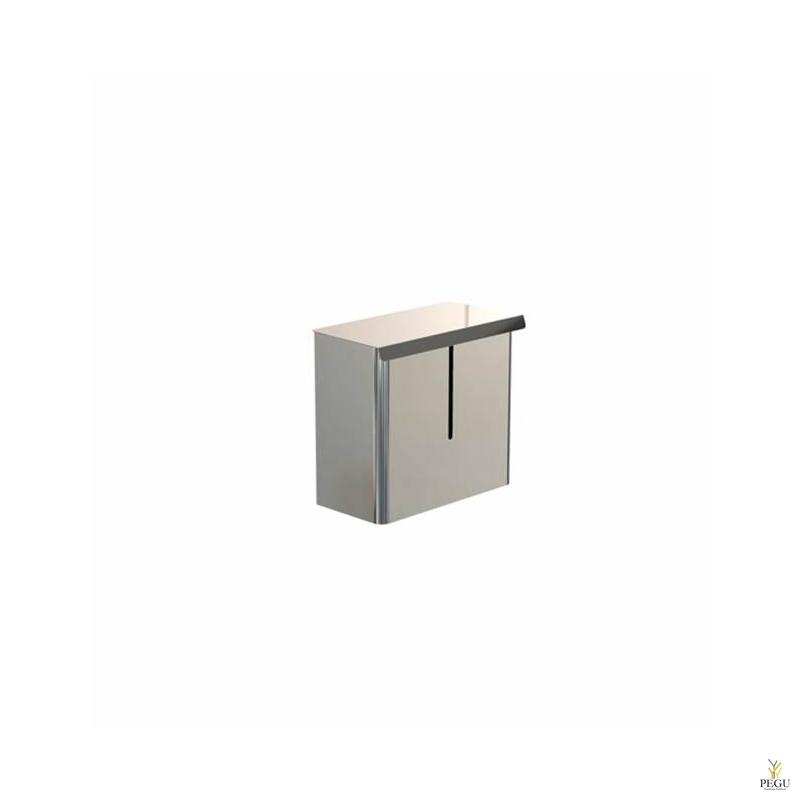 Санитарная урна 3L 235x200x119 Н/Р сталь полированная