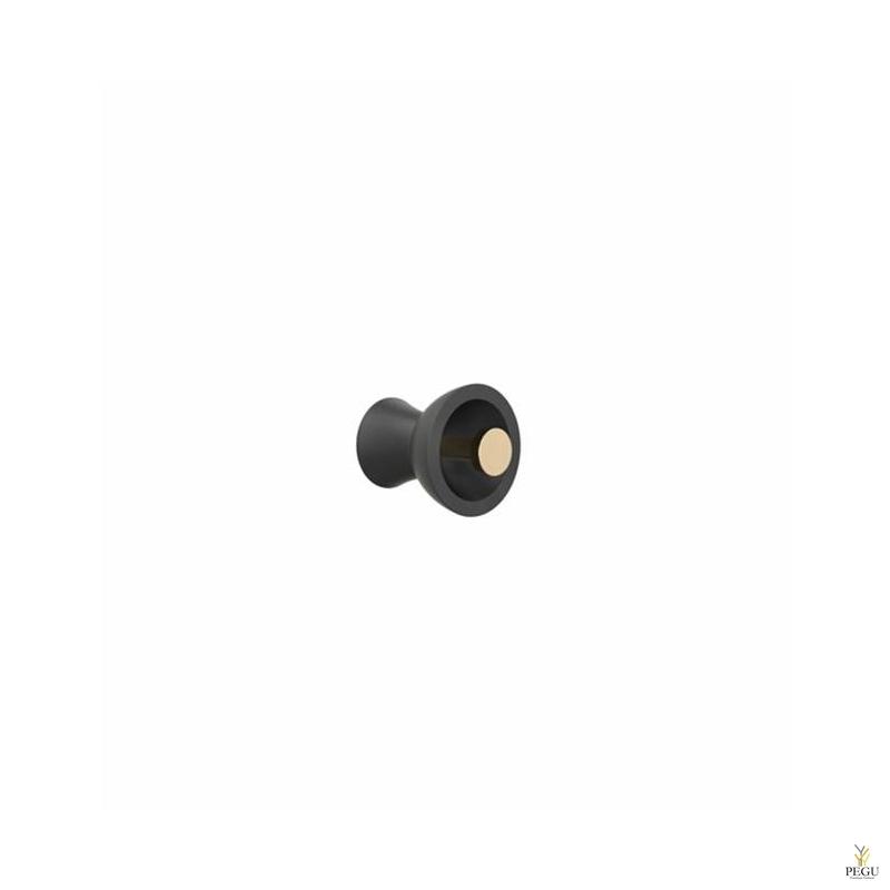 Крючёк BLOSSOM METAL d55mm, чёрный/золото