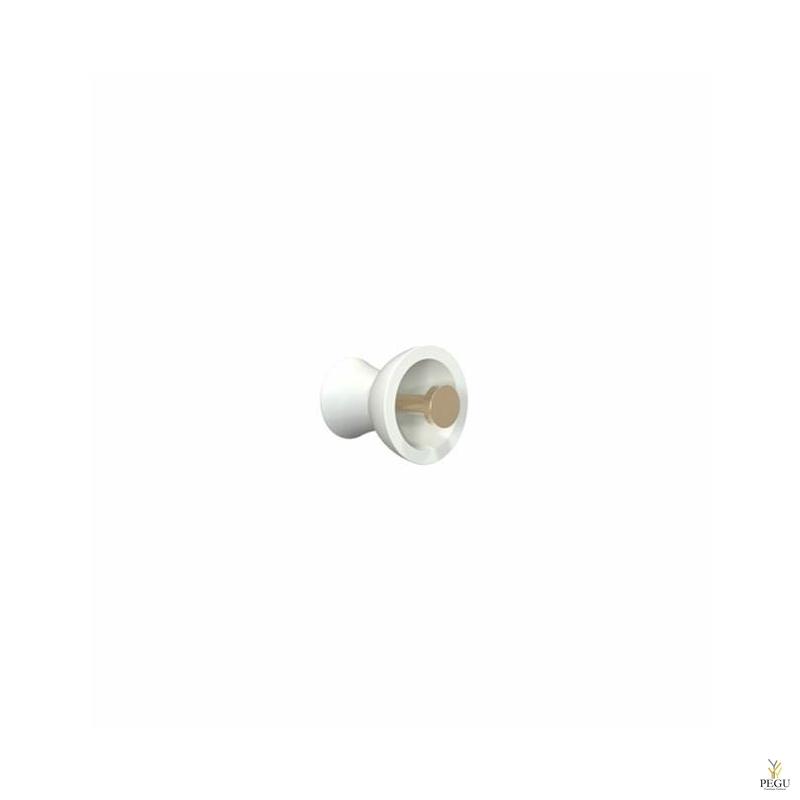 Крючёк BLOSSOM METAL d55mm, белый/золото