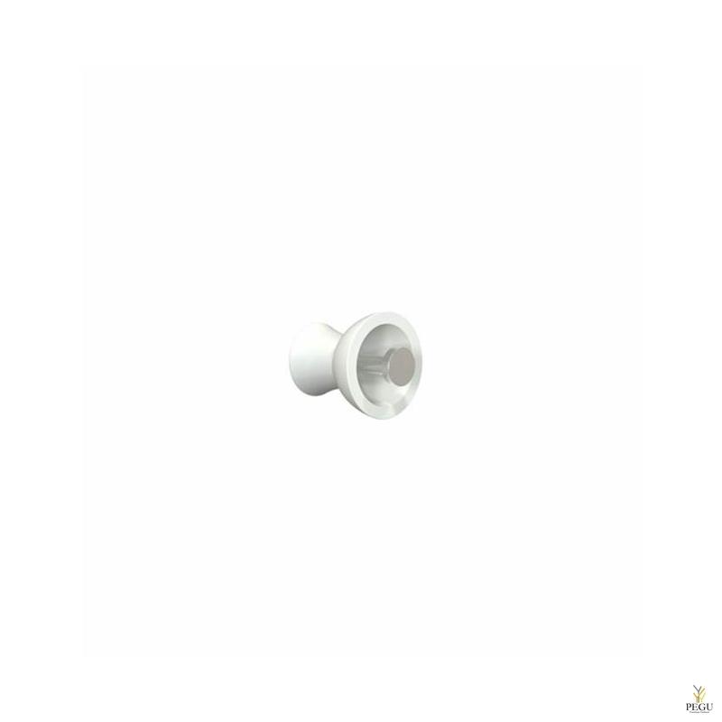 Крючёк BLOSSOM METAL d55mm, белый/полированный