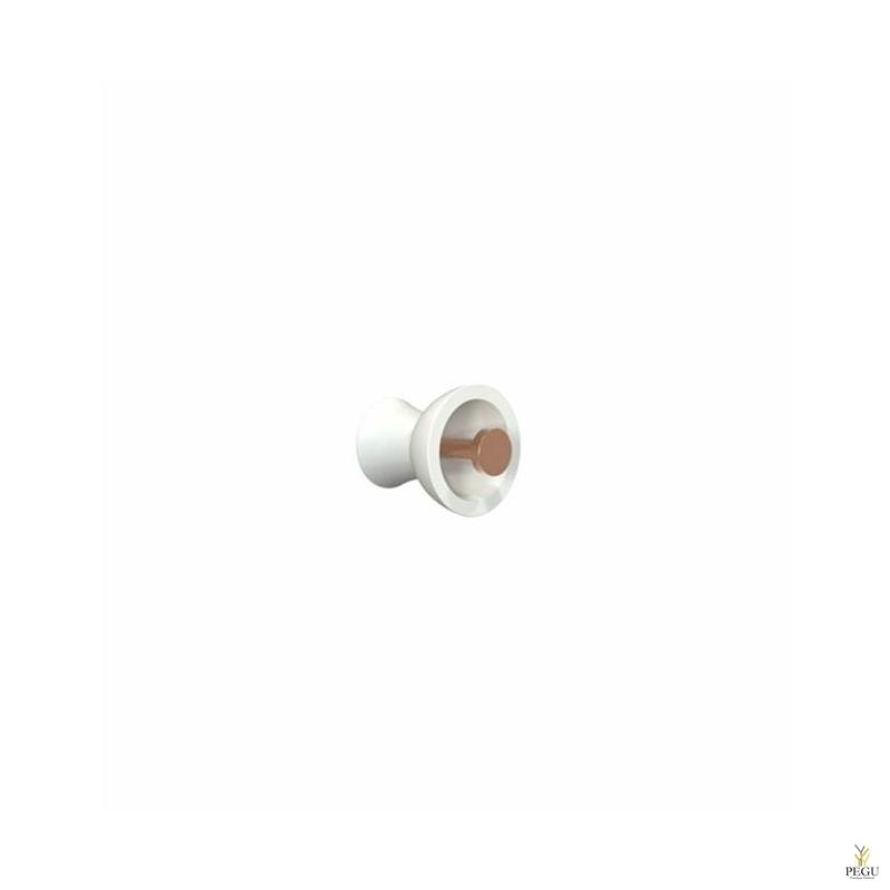 Крючёк BLOSSOM METAL d55mm, белый/медь