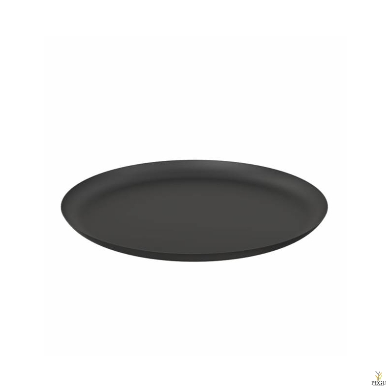 Подставка/тарелка декор Frost BOWL 270 , d268mm нержавеющая сталь, чёрная