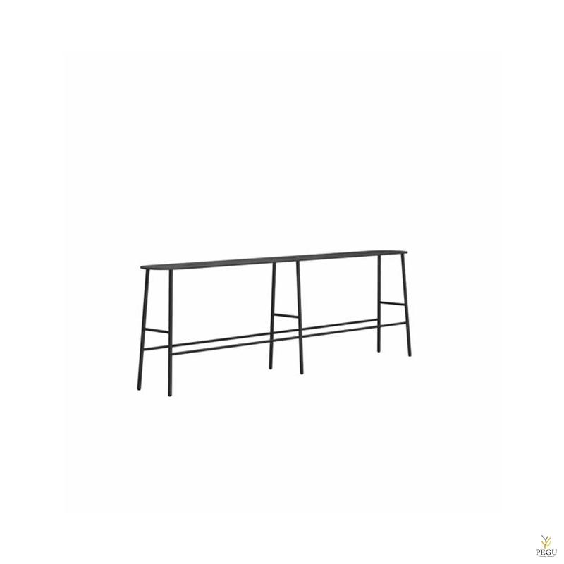 Frost скамейка-ночной столик BUKTO BENCH 1400 матовый чёрный