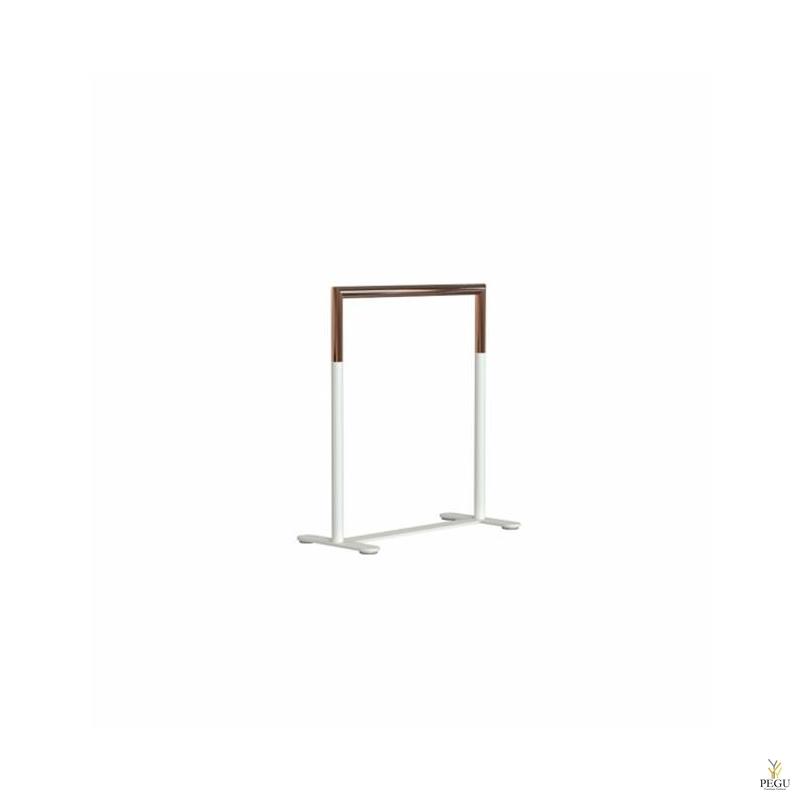 BUKTO käterätipuu põrandale, valge-vask