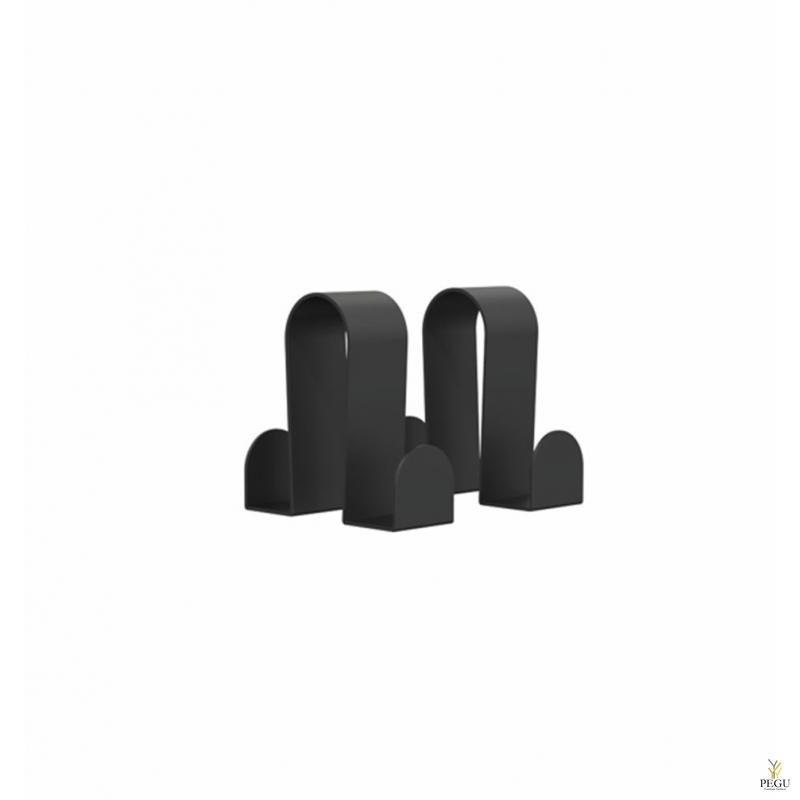 BUKTO крючки, 2 шт в комплекте, чёрные