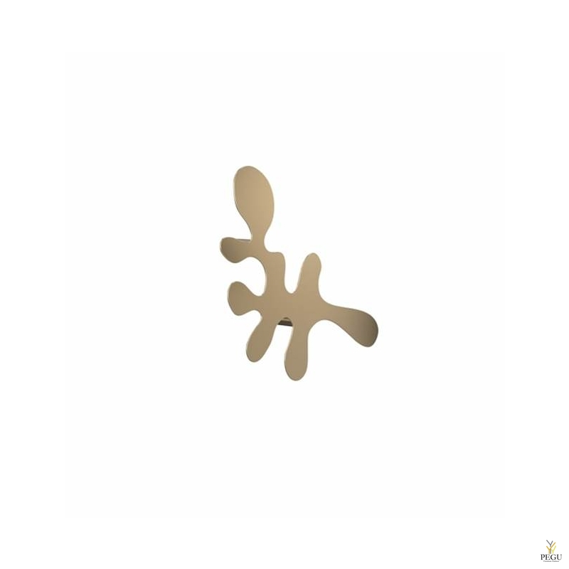 Camouflage-single, одиночный крючок под польто L400xH240xP67mm, золото