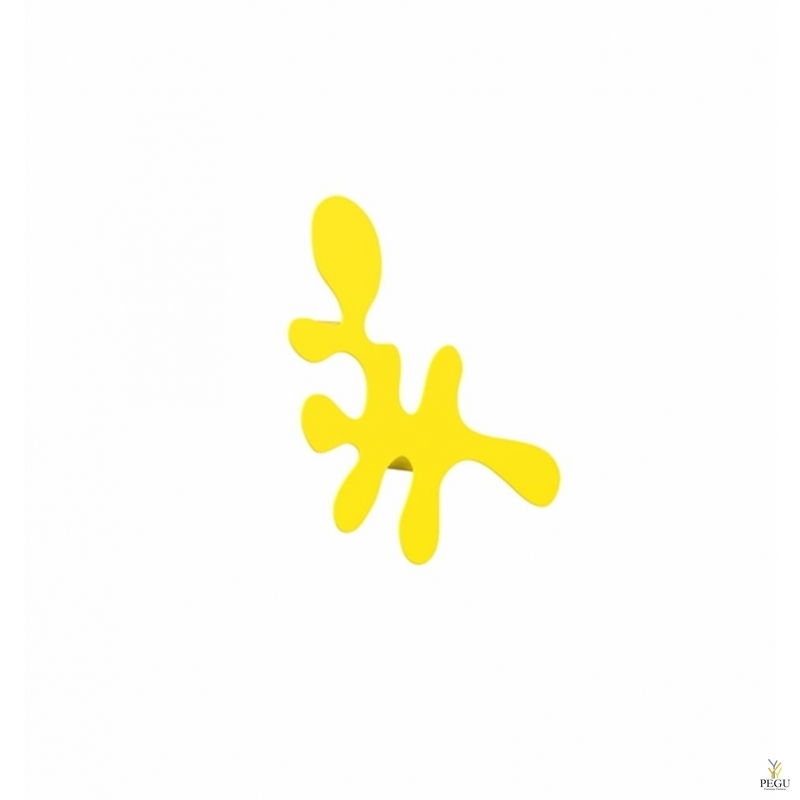 Camouflage-single, одиночный крючок под польто L400xH240xP67mm,  жёлтый