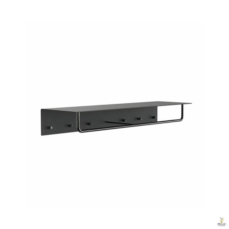Garderoobiriiul UNU, nagid+riidepuu, 1000mm,  must-must