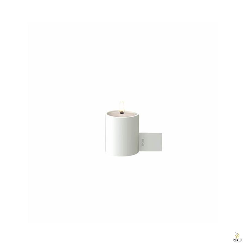 Чайный подсвечник d40xL74xH51mm, белый