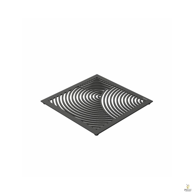 Kuumaalus TRIVET1, 150x150mm ümmargune muster, R-V teras must