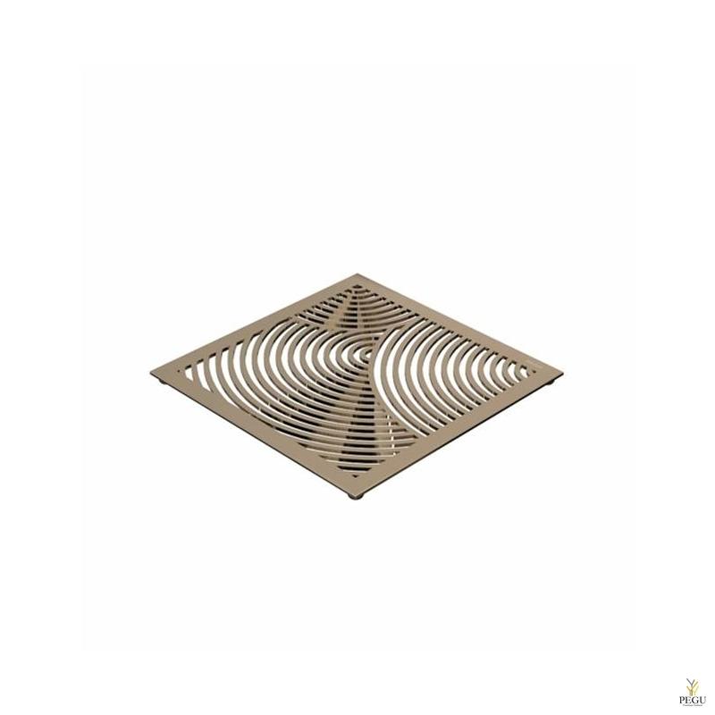 Подставка под горячее TRIVET1, 150x150mm радиальный рисунок, Н/Р сталь золото