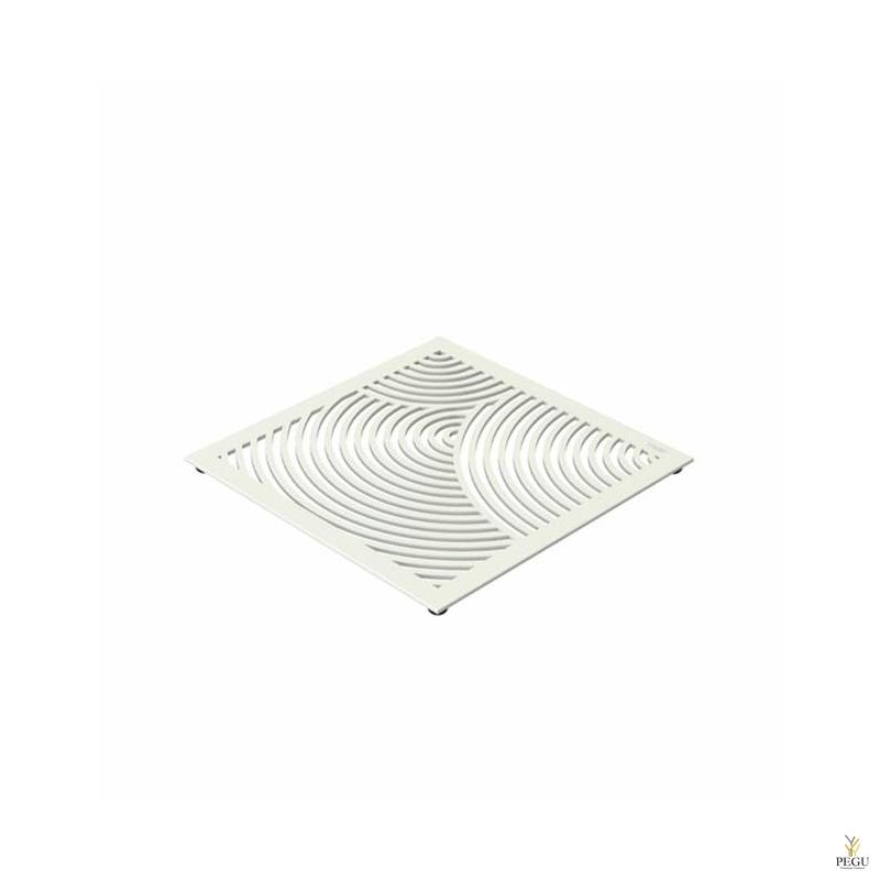 Подставка под горячее TRIVET1, 150x150mm радиальный рисунок, Н/Р сталь белая