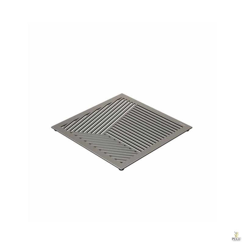 Подставка под горячее TRIVET2, 150x150mm квадратный рисунок, Н/Р сталь матовая