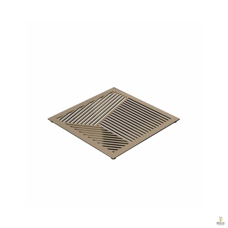 Kuumaalus TRIVET2, 150x150mm kandiline muster, R-V teras kuld