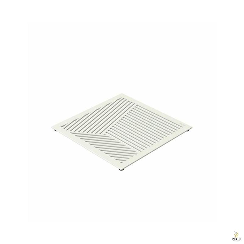 Подставка под горячее TRIVET2, 150x150mm квадратный рисунок, Н/Р сталь белая