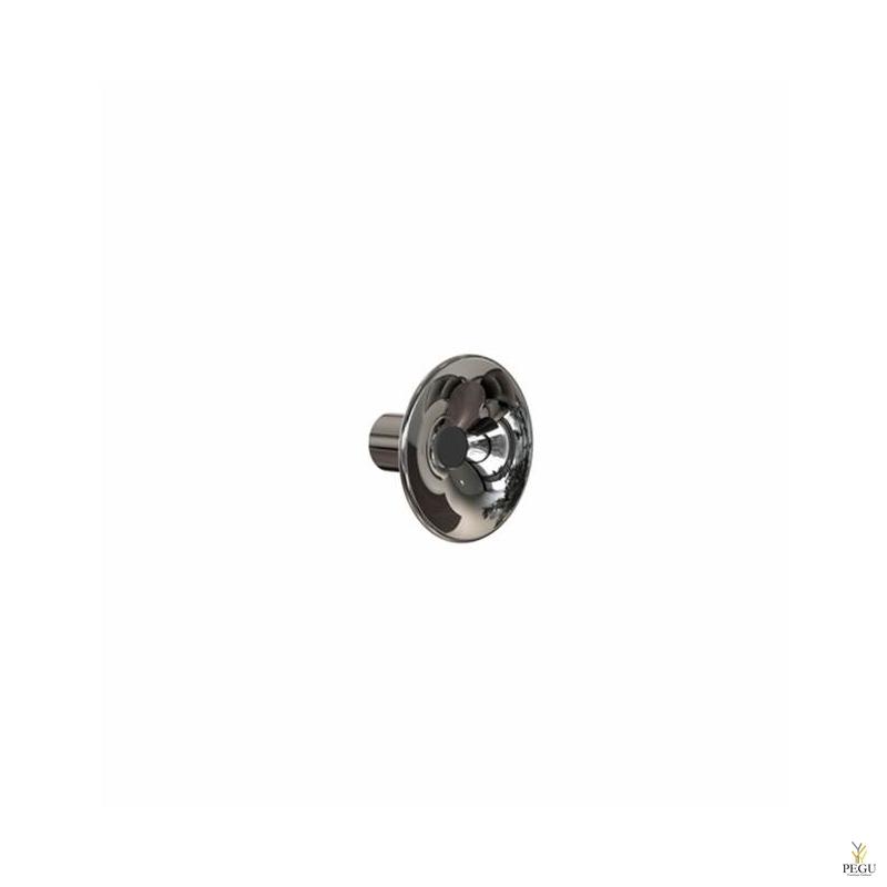 Крючёк LILU d80mm, полированный/чёрный