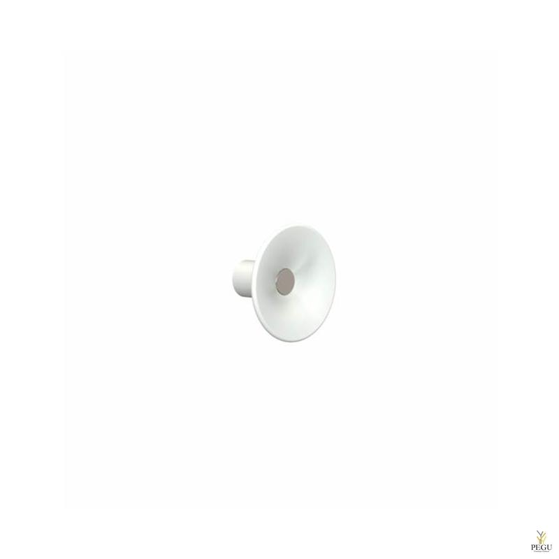 Крючёк LILU d80mm,  белый/полированный
