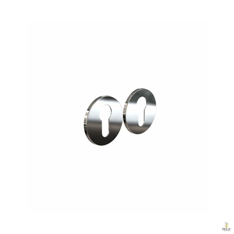 Накладка для сердечника дверного замка ELEMENT 3001 d50mm полированная