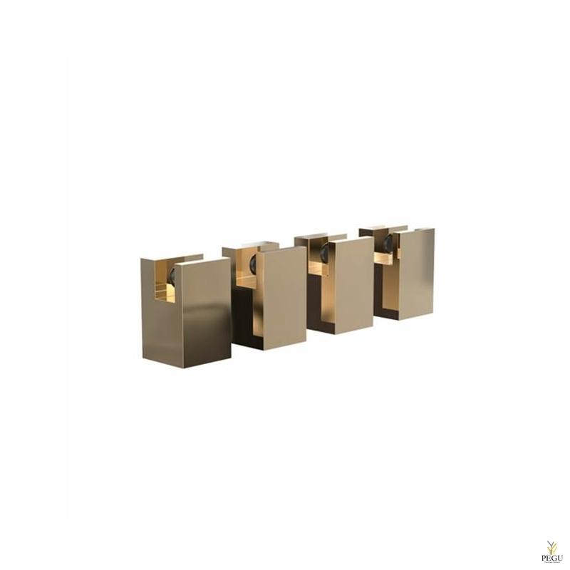 FROST Peeglikinnitus komplekt QUDRA MIRROR HOLDER 5, 4 tk, kuld