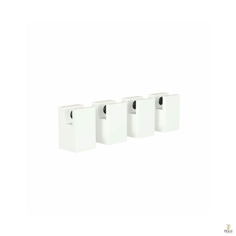 FROST Комплект креплений для зеркала QUDRA MIRROR HOLDER 5, 4 шт, белый
