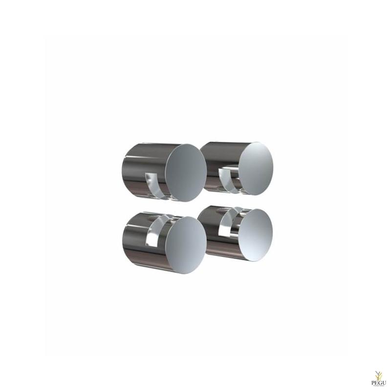 FROST Peeglikinnitus komplekt NOVA2 HOLDER 3, 4 tk, harjatud