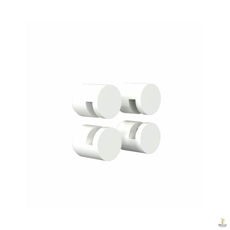 FROST Крепления для зеркала комплект NOVA2 HOLDER 3, 4 шт, белые