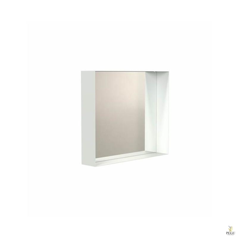 Peegel Frost UNU raamiga , 500x500 valge