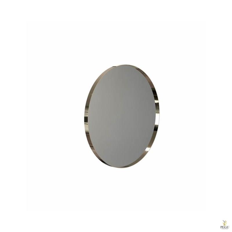 Зеркало Frost UNU с рамой , d600mm золото