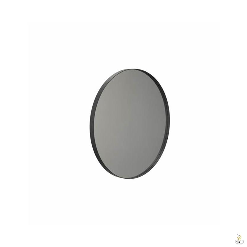Peegel Frost UNU raamiga , d600mm must