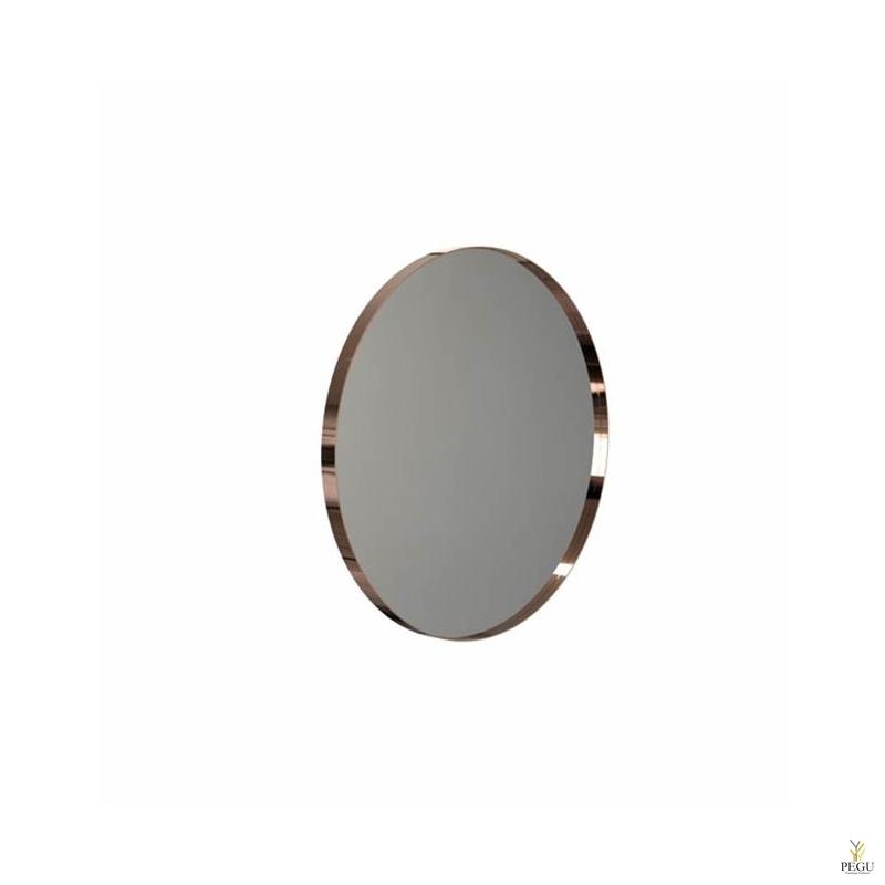 Зеркало Frost UNU с рамой , d600mm медь