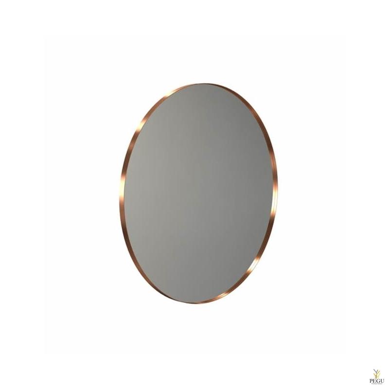 Зеркало Frost UNU с рамой , d1000mm матовая медь