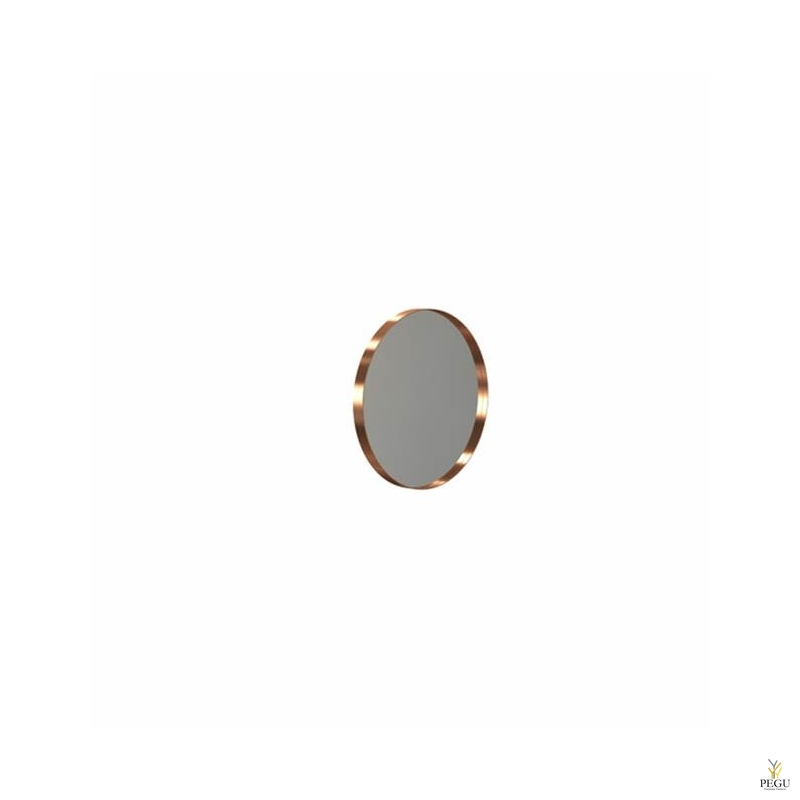 Зеркало Frost UNU с рамой , d400mm матовая медь