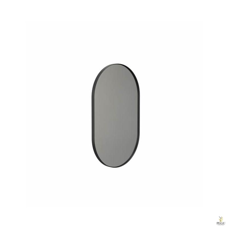 Frost peegel raamiga 500x800mm must ALU