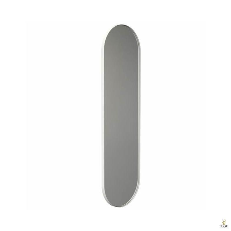 Frost peegel raamiga 400x1400mm valge ALU