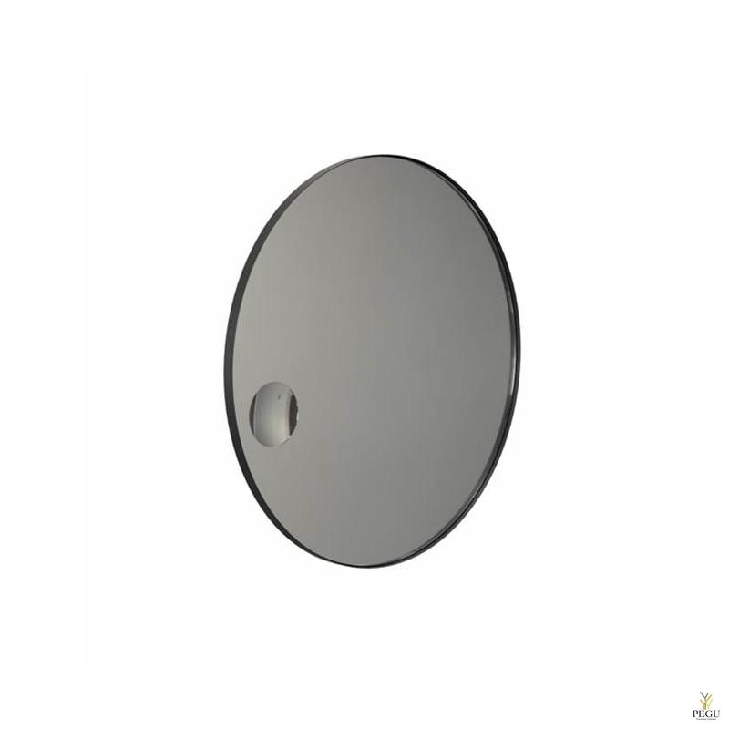 Frost ümmargune peegel+kosmeetika peegel raamiga d1000mm must ALU