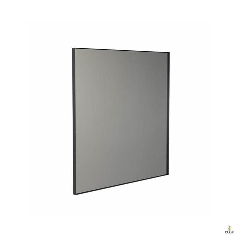 Frost peegel raamiga 1000x1000mm must ALU