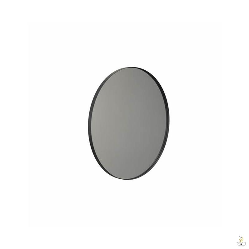 Peegel Frost UNU ümmargune raamiga d800mm matt must