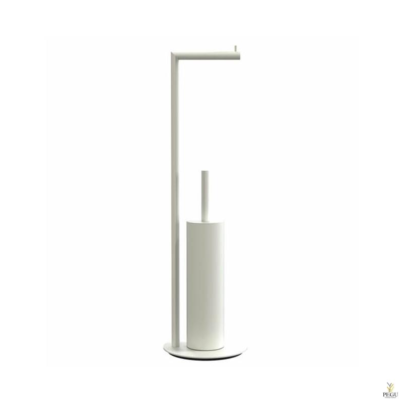 Tualetthari wc paberihoidjaga 8 põrandale valge