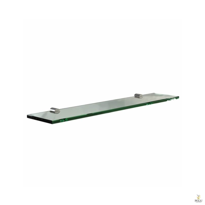 Kalaasriiul Frost Shelf 600mm klaas/roostevaba teras harjatud
