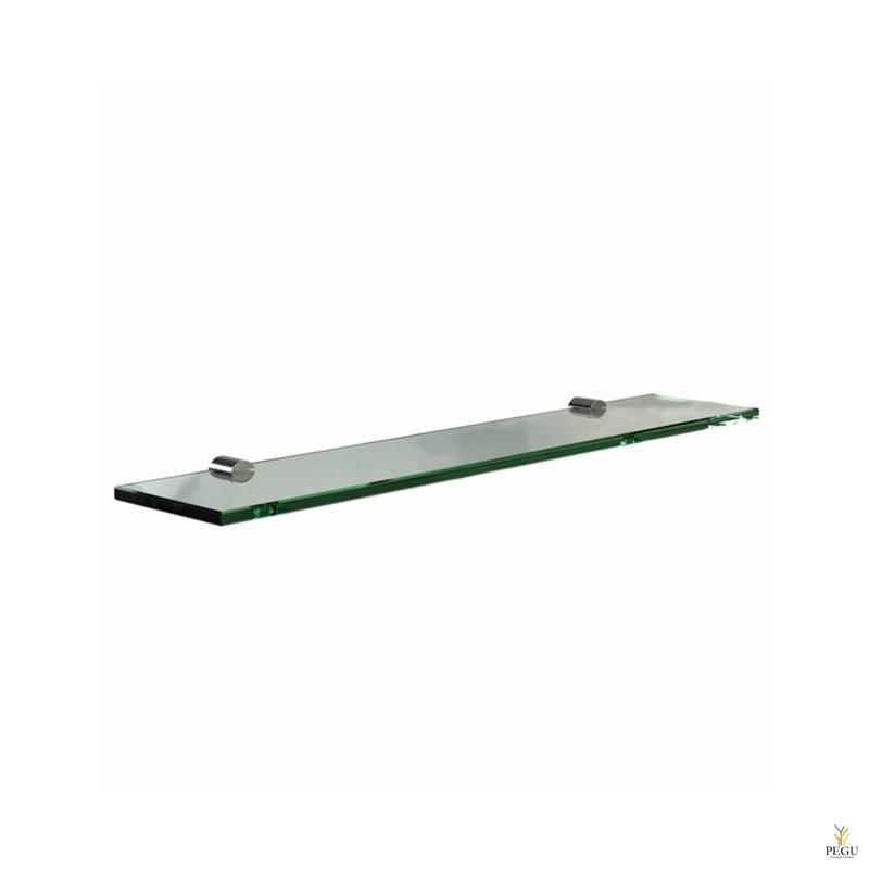 Kalaasriiul Frost Shelf 600mm klaas/roostevaba teras poleeritud