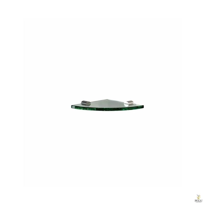 Kalaasriiul nurga Frost Shelf 176x176mm klaas/roostevaba teras poleeritud