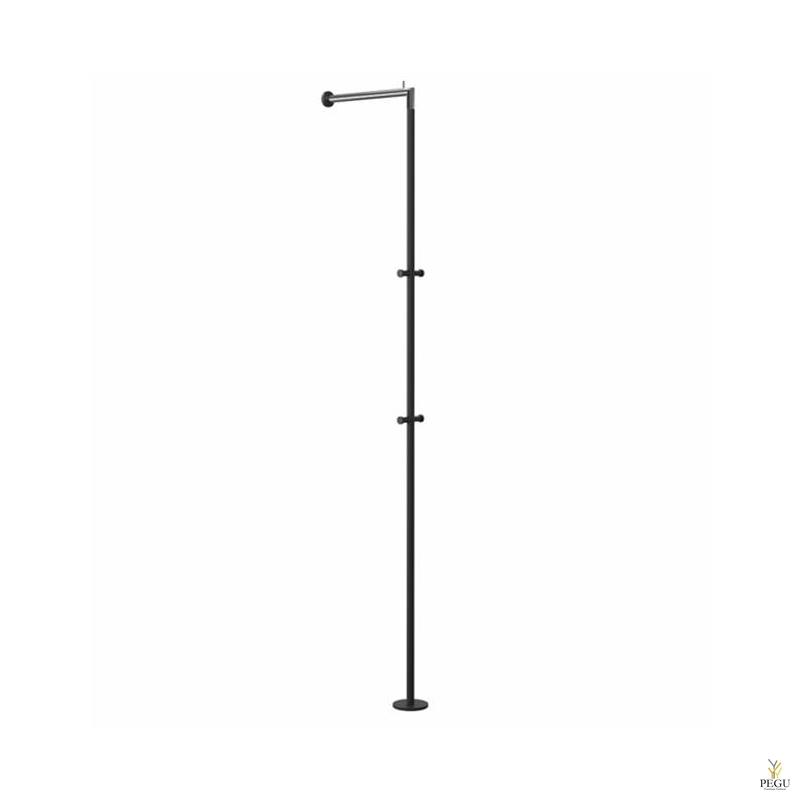 Вешалка для прихожей стена/пол Frost HALL STAND 2, нержавеющая сталь , чёрная/полированная