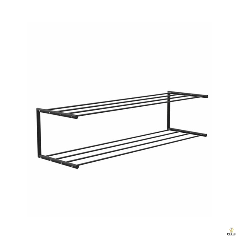 Frost обувная полка Shoe shelf 2 Nova 1000mm Н/Р сталь чёрный/чёрный