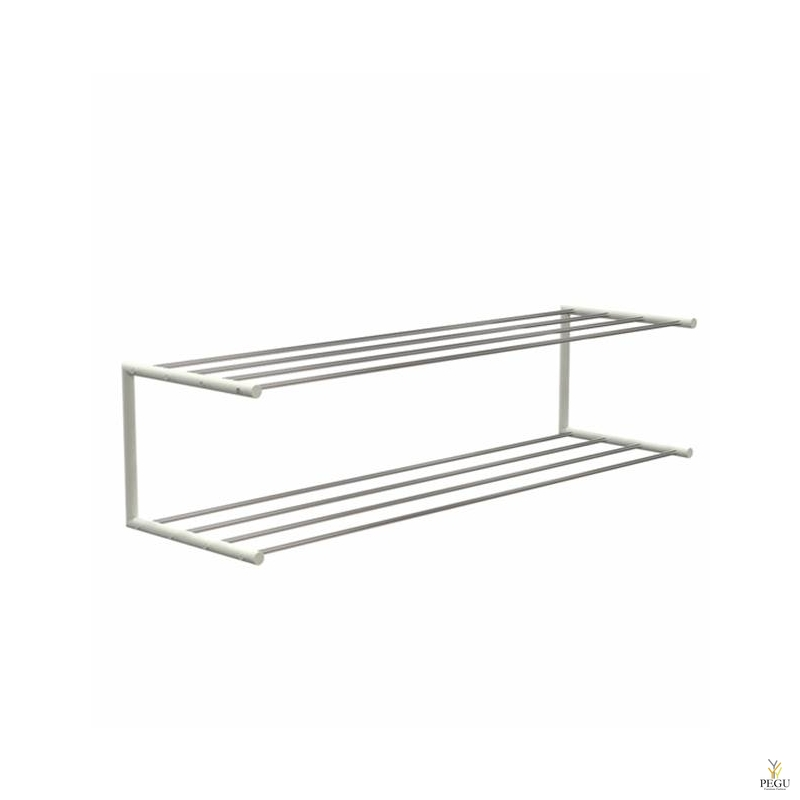 Frost Kingariiul Shoe shelf 2 Nova 1000mm R/V teras poleeritud/valge