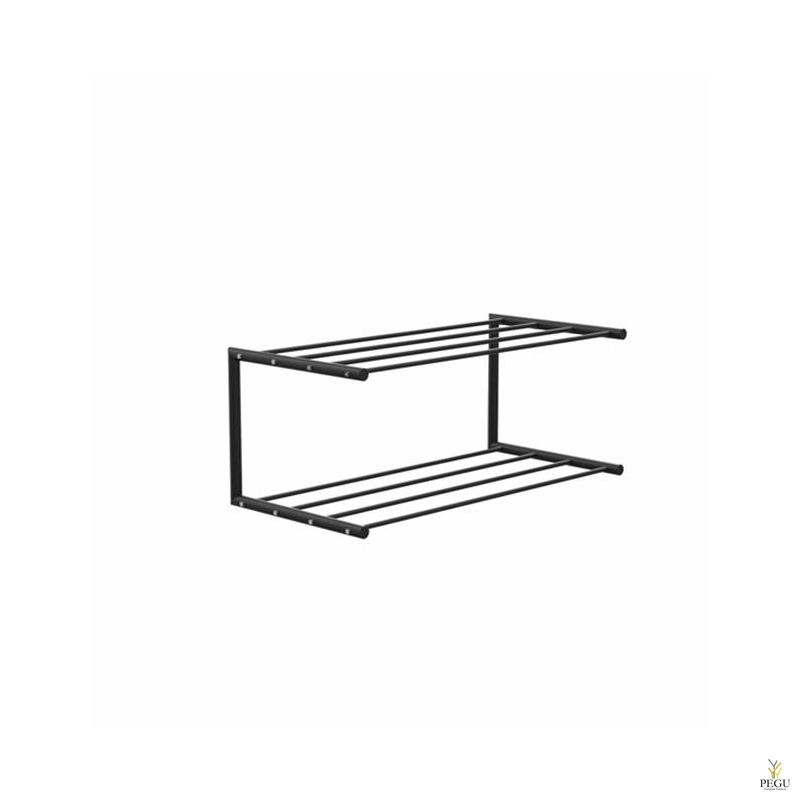 Frost обувная полка Shoe shelf 1 Nova 600mm Н/Р сталь чёрный/чёрный