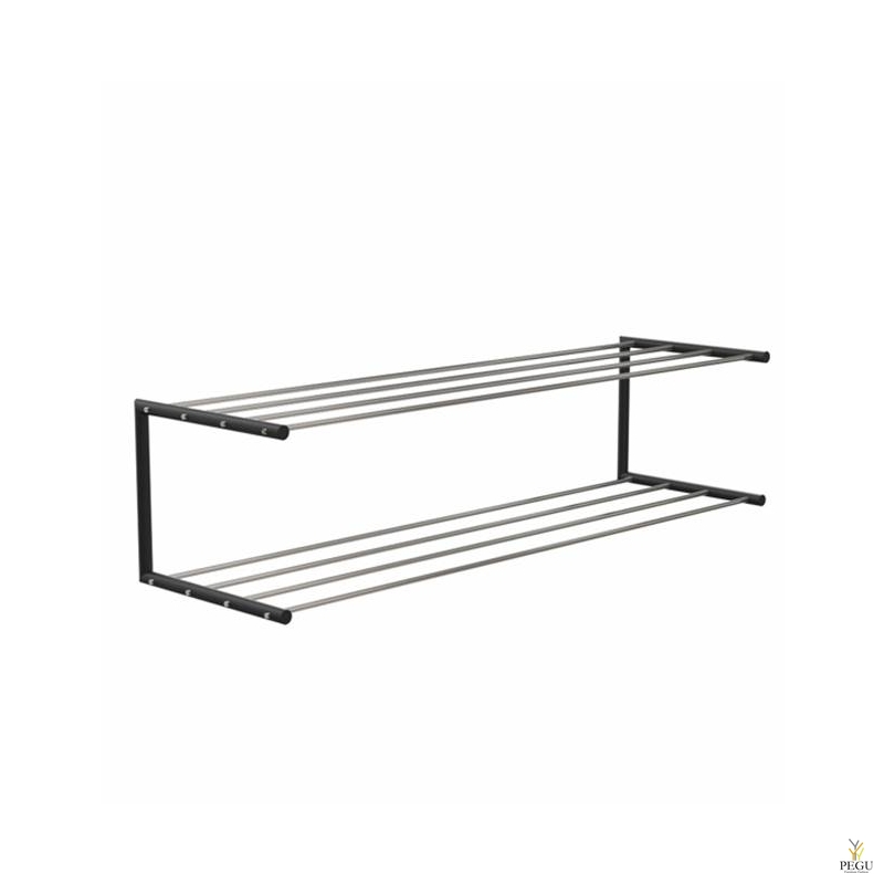 Frost Kingariiul Shoe shelf 2 Nova 1000mm R/V teras poleeritud/must