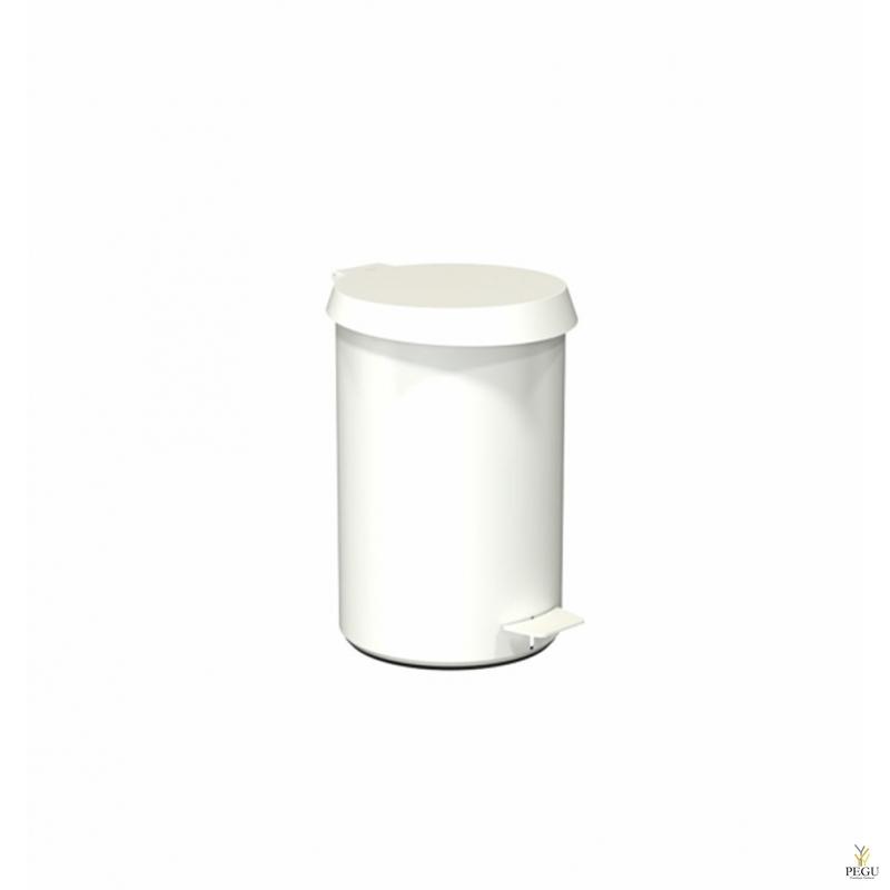 Урна с педолью средний размер FROST,  белая/белая